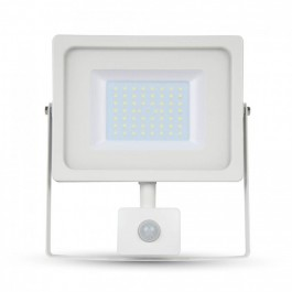 50W LED Sensor Floodlight White body SMD, Warm White