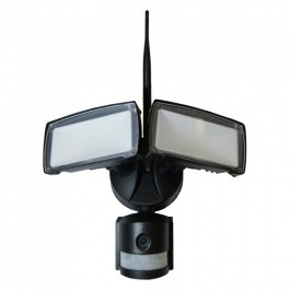 18W LED Floodlight with WiFi Sensor Camera White