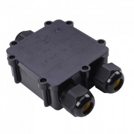 Waterproof Black Terminal Block 8-12mm IP68