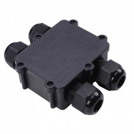 Waterproof Black 4 Pin Terminal Block 8-12mm IP68