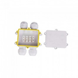 Waterproof White 4 Pin Terminal Block 8-12mm IP68