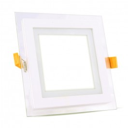 12W LED Mini Panel Glass - Square, Natural White