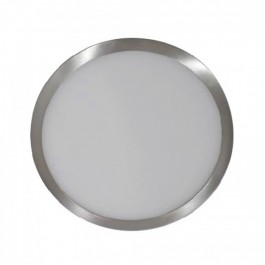 6W LED Surface Panel Light Satin Nickel Round White