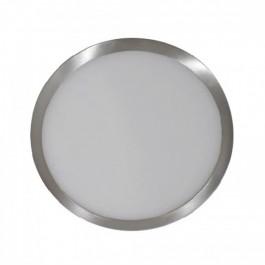 6W LED Surface Panel Light Satin Nickel Round Natural White