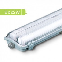 LED Waterproof Lamp Fitting with 2 x 22W 150cm Tubes White