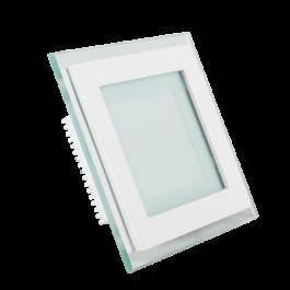 12W LED Mini Panel Glass - Square, Change Color 3000K/4500K/6000K
