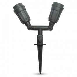 Garden Spike Light Body Double Head IP44 E27