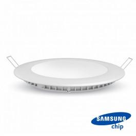 24W LED Panel Premium SAMSUNG CHIP Round 6400K