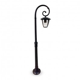 Garden Pole Lamp 1pc. E27 Bulb 1365mm Rainproof Black