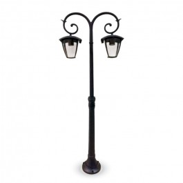 Garden Pole Lamp 2pcs. E27 Bulbs 1410mm Rainproof Black