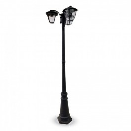 Garden Pole Lamp 3pcs. E27 Bulbs 1990mm Rainproof Black