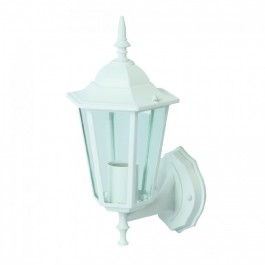 Garden Wall Lamp E27 Matt White Up