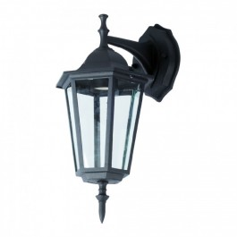 Garden Wall Lamp E27 Matt Black Down
