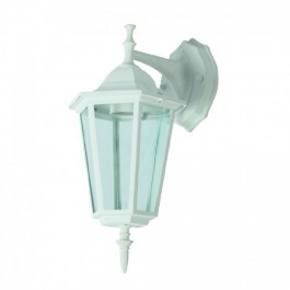 Garden Wall Lamp E27 Matt White Down
