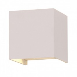 6W Wall Lamp White Body Square IP65 3000K