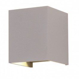 6W Wall Lamp Grey Body Square IP65 3000K