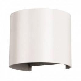6W Wall Lamp White Body Round IP65 4000K
