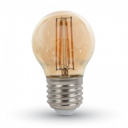 Filament LED Bulb Amber Cover - 4W E27 G45 Warm White