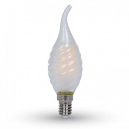LED Bulb - 4W Filament E14 Frost Cover Twist Candle Tail White
