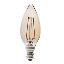 Filament LED Candle Amber Bulb - 4W E14 Warm White