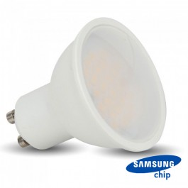 LED Spotlight SAMSUNG Chip - GU10 10W Milky Cover Plastic 6400K