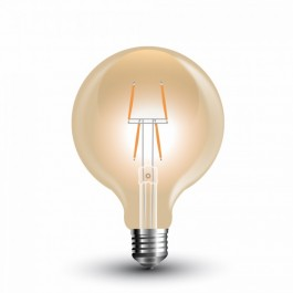 LED Bulb - 4W Filament E27 G80 Amber Warm White