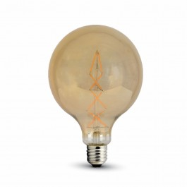 LED Bulb 8W Filament E27 G125 Amber Warm White