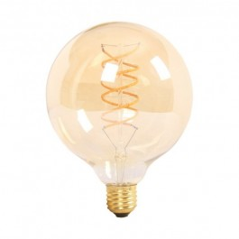 Spiral Filament LED Bulb - 6W E27 G125 Amber, Warm White