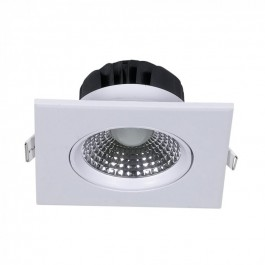 5W LED Downlight Adjustable Square - White Body, Natural White