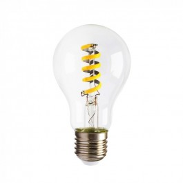 LED Bulb - 4W E27 Spiral Filament Amber Cover Warm White