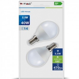 LED Bulb - 5.5W E14 P45 Natural White 2 pcs/pack