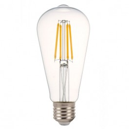 LED Bulb - 4W Filament E27 Clear Cover ST64 Warm White Dimmable