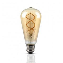 LED Bulb 5W E27 Filament Amber Glass ST64 2200K
