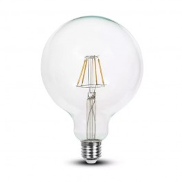 LED Bulb 6W Filament E27 G125 Clear Cover 6400K