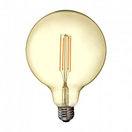 LED Bulb - 12.5W Filament E27 G125 Amber Cover 2200K