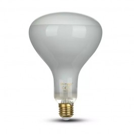 LED Bulb 8W Straight Filament E27 R125 Dimmable 6500K