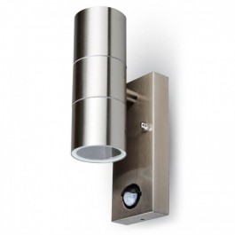 Wall Fitting GU10 With Sensor Steel Body 2 Way IP44