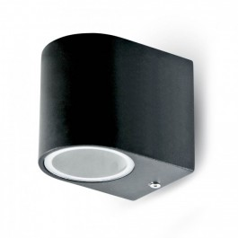 Wall Sleek Wall Fitting GU10 Aluminium Round Black 1 Way IP44