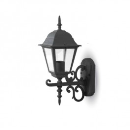 Garden Wall Lamp Small Matt Black Up