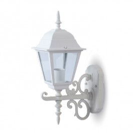 Garden Wall Lamp Small Matt White Up