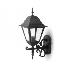 Garden Wall Lamp Large Matt Black Up