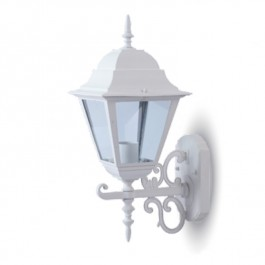 Garden Wall Lamp Large Matt White Up