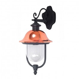 Garden Wall Lamp 1 x E27 Black Facing Down
