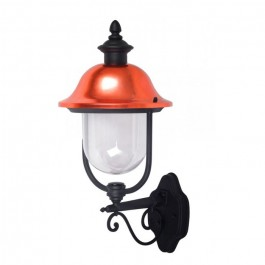 Garden Wall Lamp 1 x E27 Black Facing Up