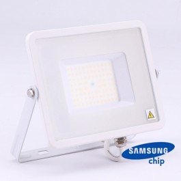 50W LED Floodlight SMD SAMSUNG Chip Slim White Body 4000K 120LM/W