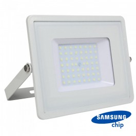 50W LED Floodlight SMD SAMSUNG Chip Slim White Body 6400K 120LM/W
