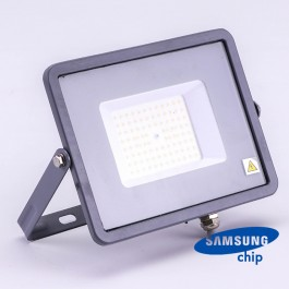 50W LED Floodlight SMD SAMSUNG Chip Slim Grey Body 4000K 120LM/W