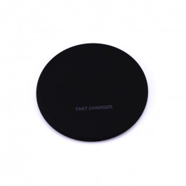 Wireless Charger 5A Fast Charging Round Black