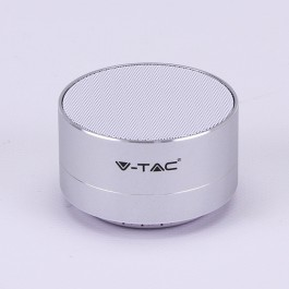 Metal Bluetooth Speaker Mic & TF Card Slot 400mah Battery Silver