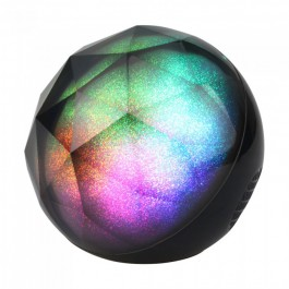 Portable Speaker Round Crystal RGB LED Light Bluetooth 1200mAh Battery